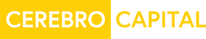 Cerebro Capital Logo in white, yellow, and black color scheme